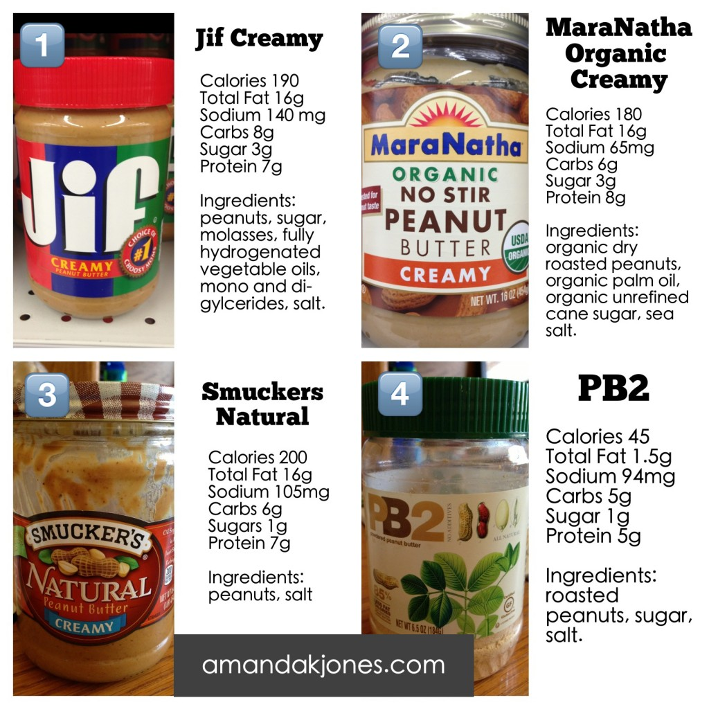Whole Foods  Non Organic All Natural Creamy Nutrition Info
