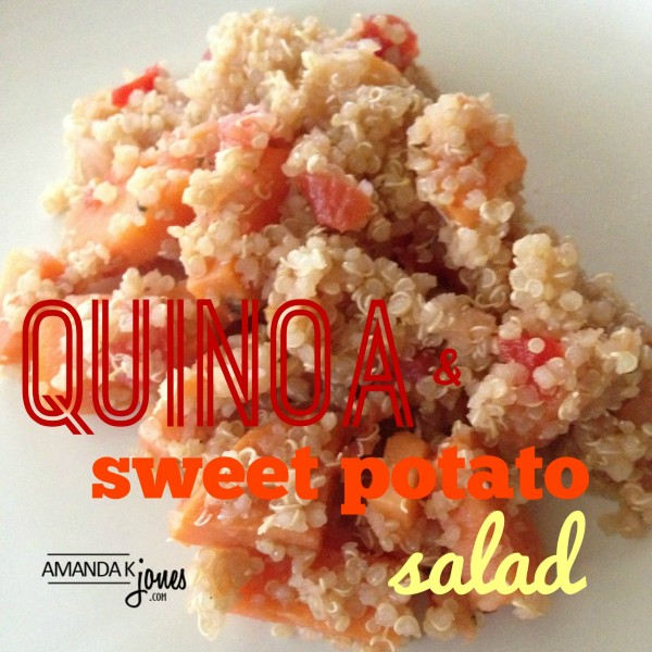 quinoa salad with sweet potatoes