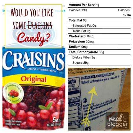Food Labels 101: Craisins
