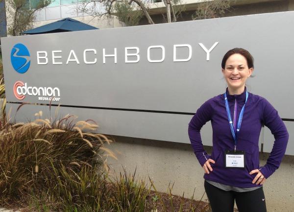 Amanda at Beachbody HQ in Santa Monica, CA.
