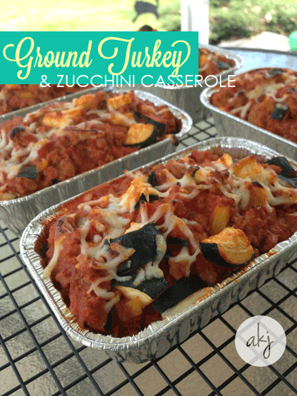 Ground Turkey and Zucchini Casserole