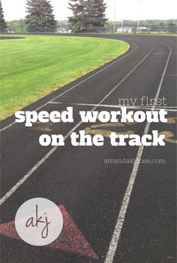 speed workout on the track